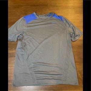 Men's Gray Dri Fit Shirt Nike - L